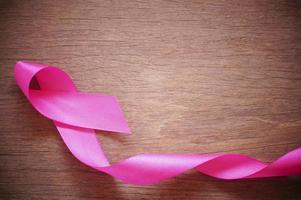 roze krullend lint foto