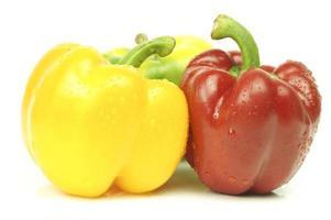 rode en gele paprika foto