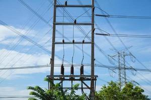 hoogspanningstoren in Thailand foto