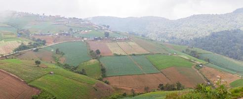 landbouwgronden in de bergen