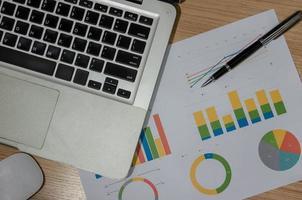 grafiek op een bureau foto