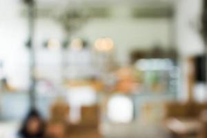 wazig café of restaurantscène voor achtergrond foto