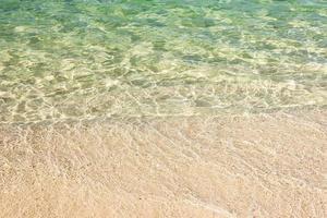 oceaanwater en strand voor achtergrond foto