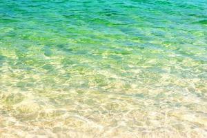 blauw oceaanwater voor achtergrond foto