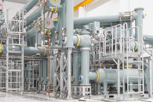 gasleiding in de krachtcentrale