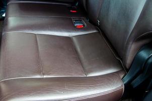 bruin lederen autostoel
