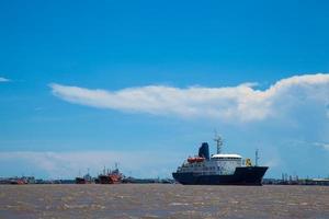 groot vrachtschip. foto