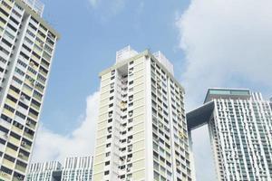 hoogbouw in singapore foto