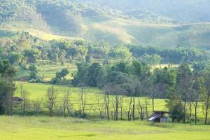 heuvels en landbouwgrond in thailand