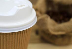close-up van een koffiekopje
