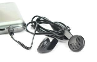 koptelefoon aangesloten