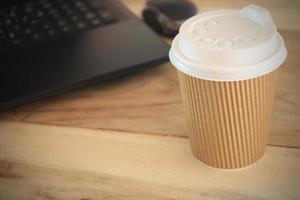 koffiekopje op Bureau