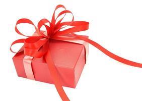 rode geschenkdoos met strik