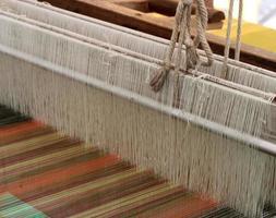 close-up van een weefgetouw foto