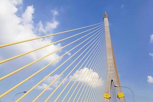 rama viii-brug in bangkok, thailand foto