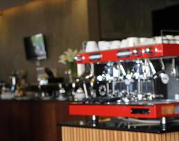 wazig espresso achtergrond foto