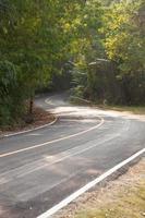 bochtige weg in Thailand