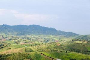 agrarisch gebied in de bergen