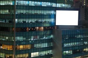 modern gebouw kantoor met billboard mock-up foto
