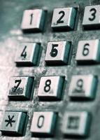 telefoon knop close-up