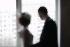 onscherp getrouwd stel foto