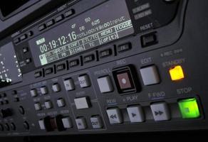 close-up van opnamemachine