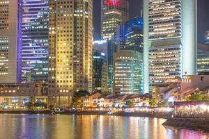 wolkenkrabbers in de stad Singapore foto