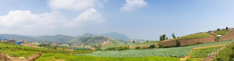 landbouwgrond op de berg foto