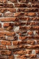 bakstenen muur voor textuur of achtergrond foto