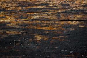 close-up van verkoolde of verbrande houten muur voor textuur of achtergrond foto