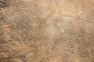 close-up van bruin leer voor textuur of achtergrond