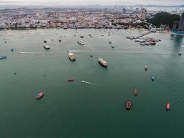 luchtfoto van pattayastrand, thailand