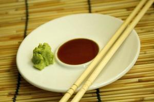 soja en wasabi foto