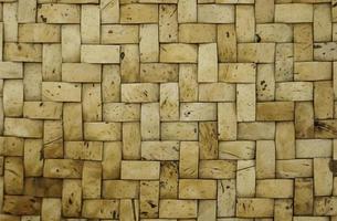 geweven bamboe textuur foto