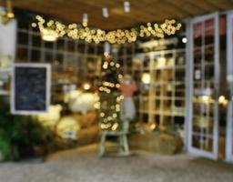 wazig kerstboom foto