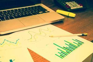 grafiek en computer foto