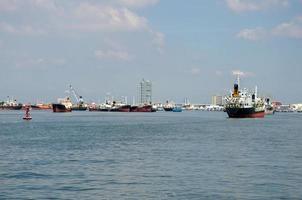 container vrachtschepen foto