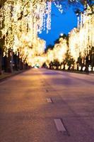 straat met verlichting