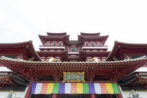 boeddha tand relikwie tempel in chinatown singapore foto