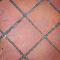 rode tegels close-up foto