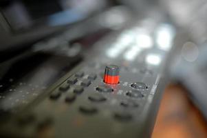 close-up van het voorpaneel van een videorecorder