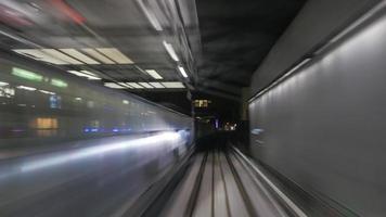 beweging van treinen foto