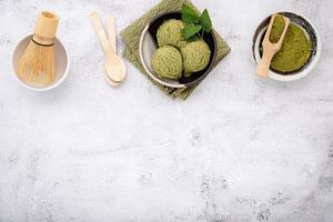 matcha groene thee-ijs foto