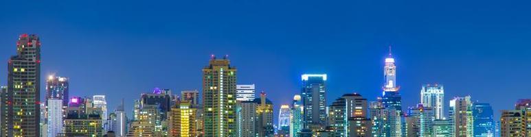 de skyline van de stad van bangkok