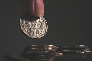 munten op neutrale achtergrond