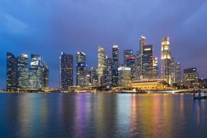 singapore skyline 's nachts foto