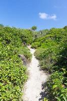 passage op een klein eiland naar het uitzichtpunt foto