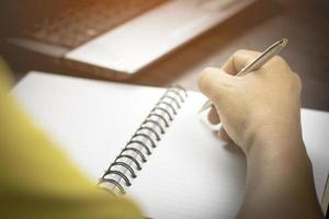 schrijven in een dagboek