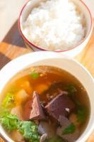 soep en een gestoomde rijst foto