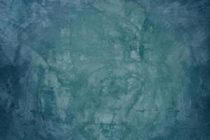 blauwe cementmuur en lege vloerachtergrond foto
